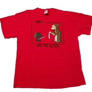 "Other - Family Guy ""The Force is Weak"" Graphic Red Tee"